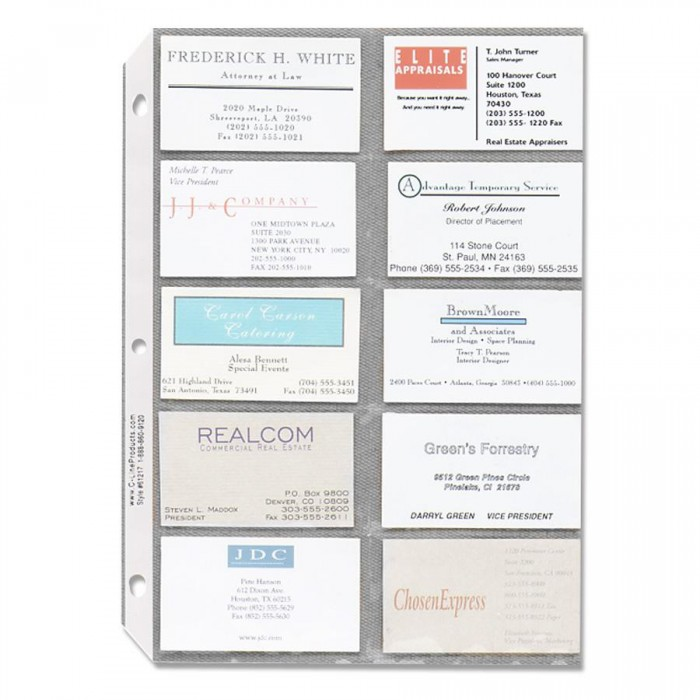 Business Card Sleeves - SPR00700